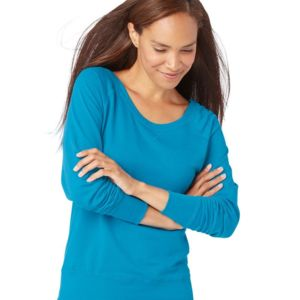 Women's Slouchy French Terry Pullover Thumbnail