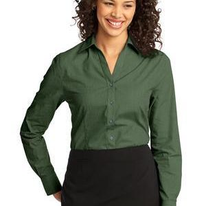 Ladies Crosshatch Easy Care Shirt Thumbnail