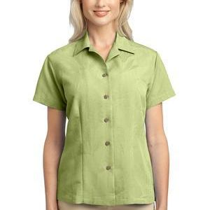 Ladies Patterned Easy Care Camp Shirt Thumbnail