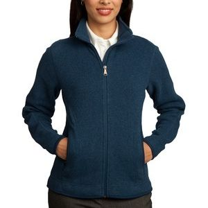 Ladies Sweater Fleece Full Zip Jacket Thumbnail