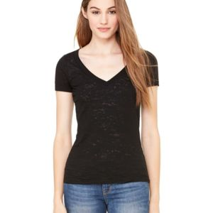 Women's Short Sleeve Burnout V-Neck Tee Thumbnail