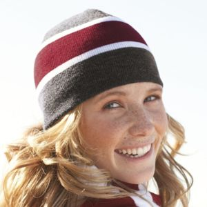 Striped Knit Beanie Thumbnail