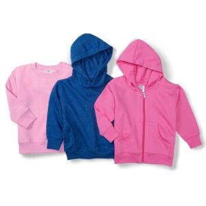 Toddler Hooded Pullover Fleece with Pockets Thumbnail