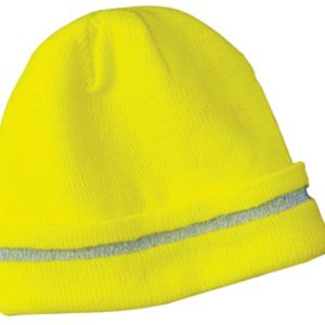 Enhanced Visibility Beanie with Reflective Stripe Thumbnail