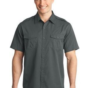 Stain Release Short Sleeve Twill Shirt Thumbnail