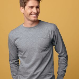 Union-Made Long Sleeve T-Shirt with a Pocket Thumbnail