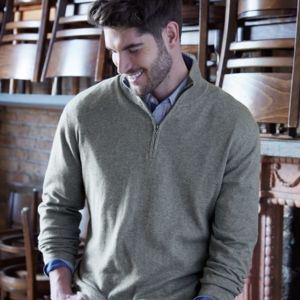 Vintage Cotton Cashmere Quarter-Zip Sweater Thumbnail