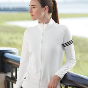 Golf Women's ClimaLite 3-Stripes French Terry Full-Zip Jacket Thumbnail
