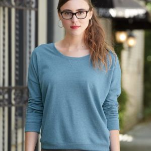 Women's Eco Mock Twist French Terry Sunset Crewneck Pullover Thumbnail