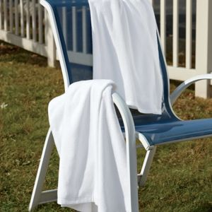 UltraClub White Velour Beach Towel Thumbnail