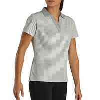 Women's Tonal Stripe Lisle Shirt With Open Neckline Thumbnail
